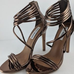 Steve Madden Copper Metallic Sandal Stiletto Heels